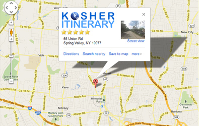 Contact us kosher itinerary map sciox Image collections